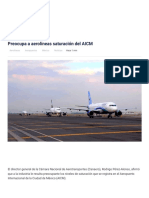 Preocupa a aerolíneas saturación del AICM _ EnElAire