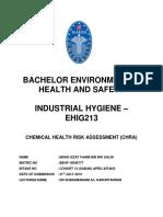 Chemical Health Risk Assessment (CHRA) in Vector Borne Disease Control Storage