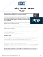 Cultivating Female Leaders