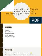 Digital Innovation at Toyota