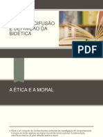 Origens, difusão e definição da bioética
