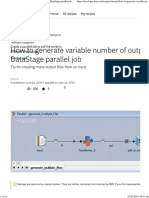 How to generate variable number of output files in DataStage parallel job - developerWorks Recipes
