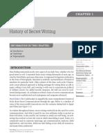 Chapter 1 History of Secret Writing 2013 Data Hiding