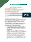 Web Application Checklist