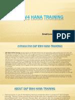 SAP BW4HANA Training   SAP BW/4HANA OnlineTraining