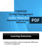 Lesson 2 - Personality, Cultural and Gender Differences