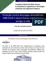 24-Proteção contra descargas atmosféricas NBR 5419-3 danos físicos a estrutura e perigos à vida