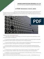 Advantage of PVDF Aluminium Veneer Plate