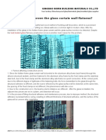 How to Improve the Glass Curtain Wall Flatness