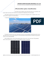 Solar GlassPhotovoltaic Glass Classification