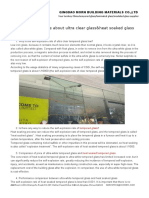 Some Knowledge About Ultra Clear Glass&Heat Soaked Glass