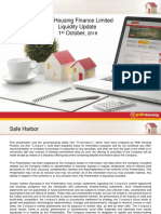 PNB Housing Finance Liquidity Update_1st Oct 18