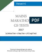 ForumIAS Mains Marathon GS Tests 2017 plan