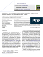 3.Evaluation of the efficiency of natural coagulant obtained by ultrafiltration of
