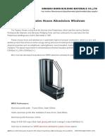 WR93 Passive House Aluminium Windows