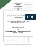 Method Statement- Site Preparation & Back fill