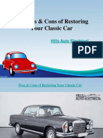The Pros & Cons of Restoring Your Classic Car