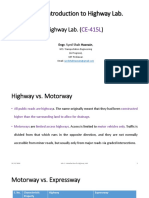 Lecture 1_Highway Lab_Introduction to Highway Lab