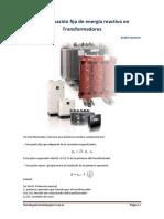Compensación fija de energía reactiva en Transformadores