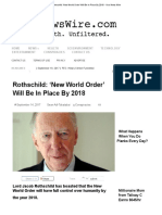 Rothschild_ 'New World Order' Will Be In Place By 2018 - Your News Wire