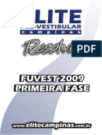 Fuvest - Objetivas - 2009 - RESOLUÇÃO