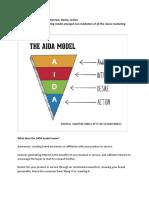 The AIDA Model in sales copy