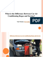What is the Difference Between Car Air Conditioning Regas and Service?