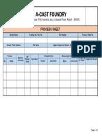 Machining Process Sheet cum QAP