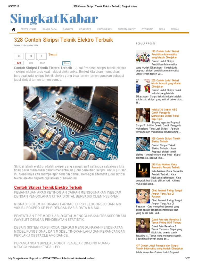 283934910 328 Contoh Skripsi Teknik Elektro Terbaik Singkat Kabar Pdf