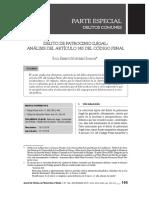 DELITO DE PATROCINIO ILEGAL - ARTICULO 385° DEL CODIGO PENAL- Raúl Martínez Huamán