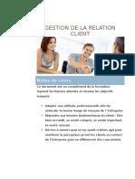 Gestion de la relation client - Notes de cours