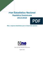 Plan Estadístico Nacional 2013-2016web
