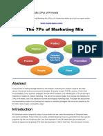Analyzing Marketing Mix hotels
