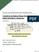 Rabino Eliezer Ben Hyrcanus