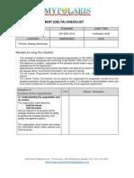 Delta Checklist_OHSMS_DPI