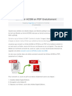 Convertir ACSM en PDF Gratuitement