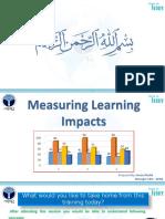 Measuring Training Impacts