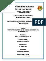 ASPECTO POLÍTICO EN EL PRIMER GOBIERNO DE ALAN GARCÍA