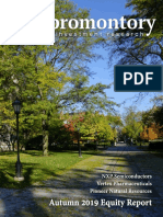 Promontory Investment Research Autumn 2019 Publication