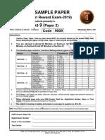 FTRE-2019-C-IX (PAPER-2)PCM