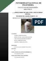 2019-II MN216 Informe 1 - Mecánica de Fluidos I FIM - UNI