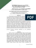 Potensi meniran terhadap bakteri Aeromonas salmonicida
