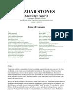 Knowledge Paper X