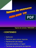 Tapónes y  Parabow
