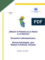 Nuevas estrategias para reducir pobreza