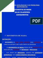 AULA 1 FORMAÇÕES GEOLÓGICAS E PROBLEMAS GEOTÉCNICOS