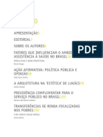 Sinais Sociais - AÇÃO AFIRMATIVA' POLÍTICA PÚBLICA E OPINIÃO