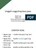 tuladha Unggah ungguhing basa jawa