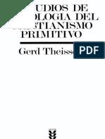 Estudios de Sociologia Del Cristianismo Primitivo Theissen Gerd