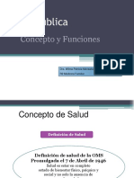 Salud Publica Conceptos y Funciones